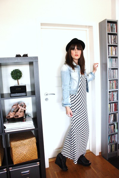Oasis dress - Cubus jacket - Bianco shoes - asos hat