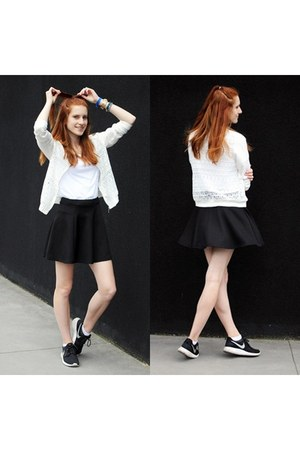 black Stradivarius skirt - white Stradivarius jacket
