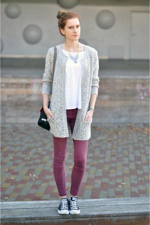burgundy Bershka pants