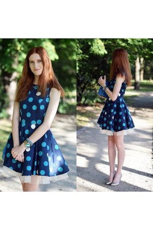 polka dot simple dress