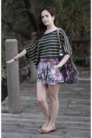 Accessorize bag - Victorias Secret shirt - shhorts boka pants