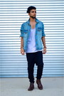 Winged-tip-cole-haan-boots-harem-pants-i-love-ugly-pants-tank-h-m-top