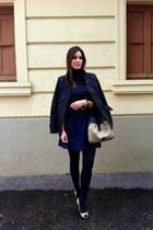 Burberry jacket - BLANCO dress - Carolina Herrera bag - Massimo Dutti jumper