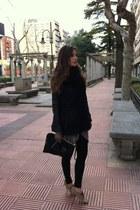 Zara shoes - Zara jacket - Zara leggings - Mango bag - JOOO top