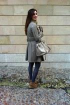 Bimba y Lola bag - Mustang boots - purificación garcía coat - amitie scarf