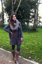 Zara leggings - maretto boots - Burberry jacket - Bimba y Lola bag