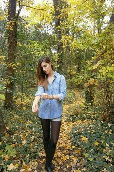 Zara shirt - Mango coat - BLANCO shorts