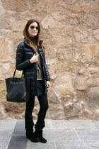 Mango coat - Zara boots - Zendra jumper - Mango skirt