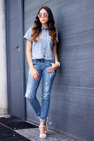 blue denim pull&bear jeans