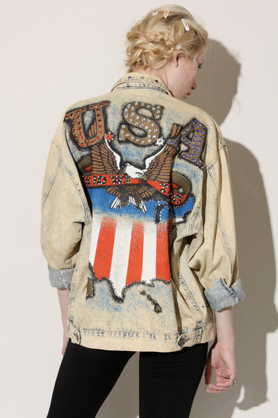 handpainted vintage jacket