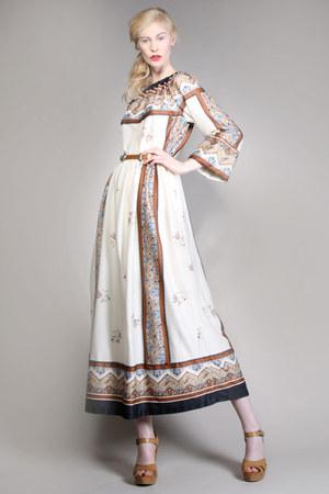 folk art vintage dress