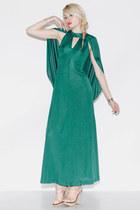 cape maxi vintage dress