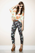 Floral-leggings