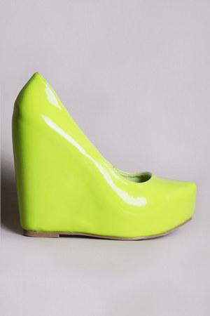 neon wedges