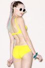 Yellow Vintage Swimwear