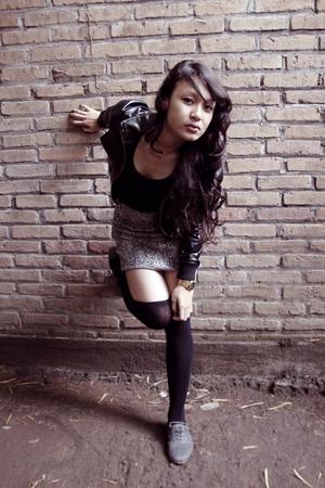 jacket - top - skirt - socks - shoes