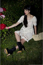 Pierre-hardy-for-gap-boots-crochet-mini-knitted-and-knotted-dress