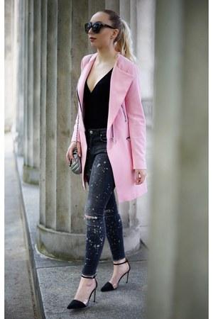 bubble gum pink Zara coat