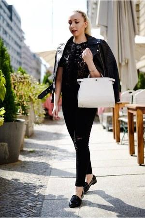 black H&M jeans - black asos flats