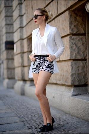 black Forever 21 sunglasses - white StyleSofia blazer - Forever 21 shorts