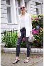 Gray-skinny-jeans-zara-jeans-silver-silver-zara-bag