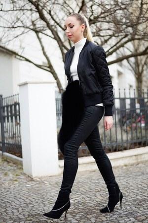 black jacket H&M jacket - black pants H&M pants