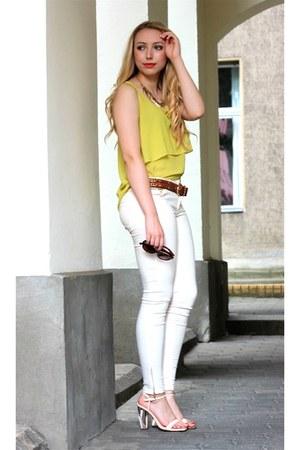 Zara jeans - asoscom glasses - Mango belt