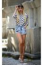 Gina-tricot-shorts-zara-blouse