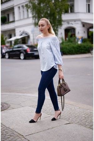 light blue blouse H&M top