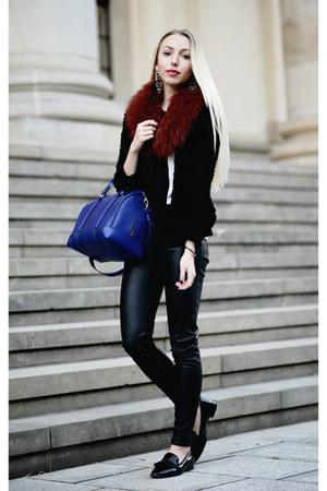 navy Zara bag