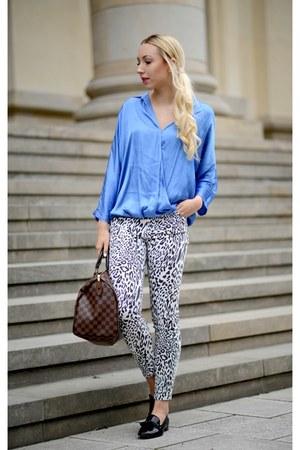 Zara jeans - dark brown Louis Vuitton bag - black Zara loafers