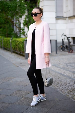 bubble gum pink Zara coat
