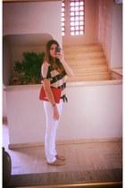 Aldo purse - Zara jeans - tory burch flats - Aldo ring - Forever 21 blouse