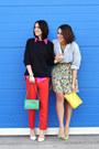 Hot-pink-ralph-lauren-shirt-vintage-shirt-red-h-m-trend-pants