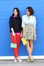 Hot-pink-ralph-lauren-shirt-vintage-shirt-vintage-skirt