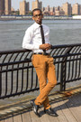 White-shirt-mustard-pants
