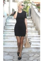 ovs dress - Louis Vuitton bag - Zara loafers