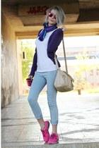 pull&bear jeans - legend bag - Bershka cardigan - ovs t-shirt - nike sneakers