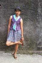 pasar baru vest - unbranded skirt - giovanny shoes