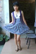 giovanny shoes - my sisters skirt skirt - Orange top - pasar baru vest