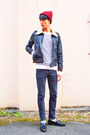 Dark-gray-cheap-monday-jeans-dark-gray-april-77-jacket-white-h-m-jumper