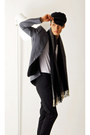 Navy-sailor-cap-vintage-hat-charcoal-gray-grey-classic-topman-blazer