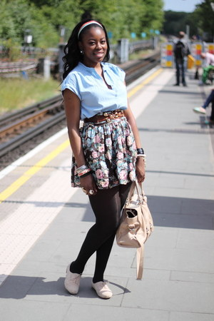 Primark shoes - H&M shirt - Zara bag - Primark skirt