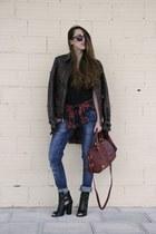 Choies top - Primark boots - Zara jeans - Primark bag