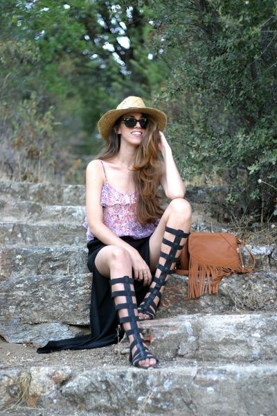 Stradivarius bag - Marypaz sandals - Bershka top