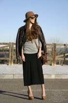 Zara hat - Choies dress - Marypaz heels - Stradivarius sweatshirt