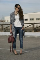 OASAP cardigan - Marypaz heels - H&M top