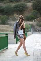Stradivarius jacket - Stradivarius bag - blackfive shorts - Zara heels