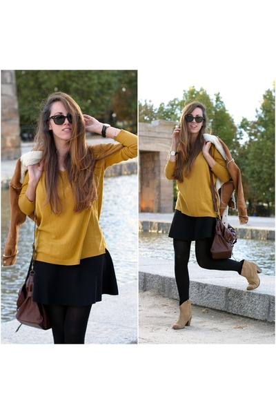 Marypaz boots - Zara sweater - Bershka skirt