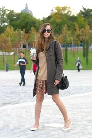 Zara sweater - okeysi skirt - Bershka flats